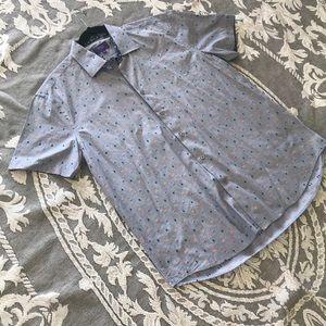Men's Button Down short sleeve Tallia (L)